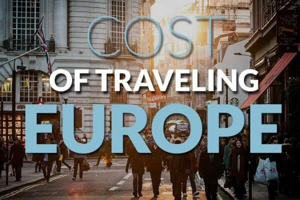 Cost of traveling Europe