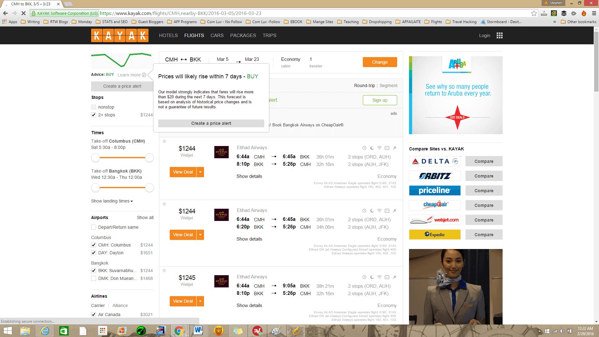 Kayak Flights and Flight Price Predictor