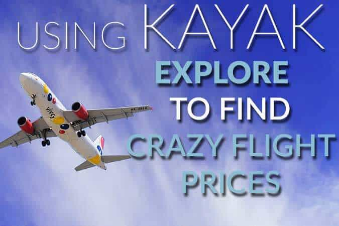 Kayak to find cheap flights